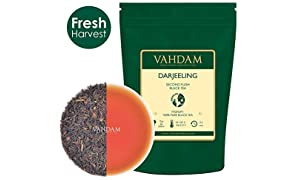 VAHDAM, Darjeeling​ Black Tea Leaves​ from Himalayas - 120+ Cups, 100% Certified Pure Unblended Darjeeling, FTGFOP1 Grade Loose Leaf Tea, Packed & Shipped Direct from Source in India, 255gm Bag