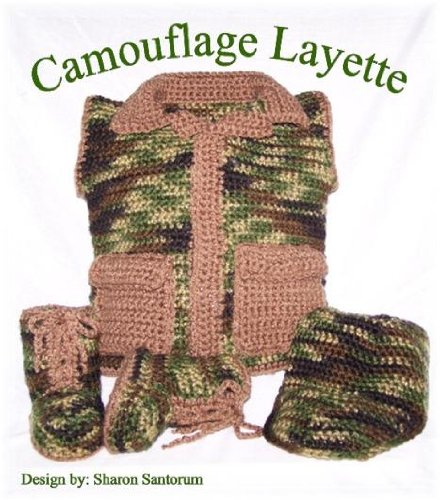 Camo Booty (Baby Camouflage Layette Crochet Pattern (English Edition))