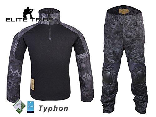 eLITe Airsoft Jagd Tactical BDU passt Military Combat G2Uniform Shirt Hose Typhon - Militärische Bdu Shirt