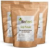 BioFeel - Bio Goji Beeren Pulver, 300g, 3er Pack
