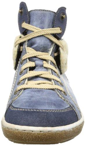 Rieker Z7742 Damen Stiefel Blau (lake/atlantic/beige 14)