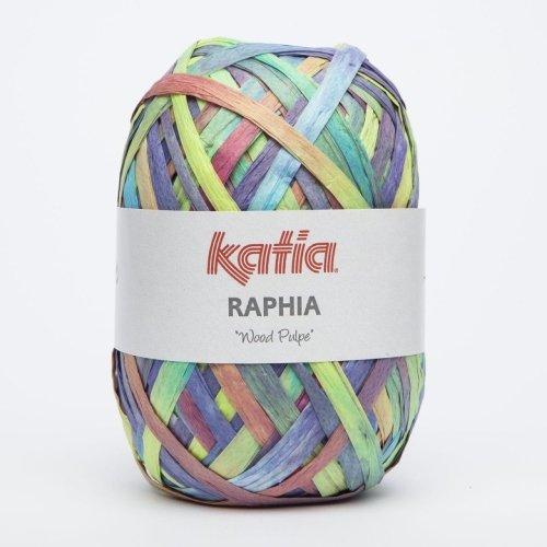 Katia Raphia Wood Pulpe - Farbe: Multicolor (90) - 50 g / ca. 115 m Wolle - Seide Stricken Tasche