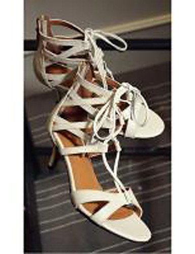 UWSZZ Die Sandalen elegante Comfort Schuhe Frau - Sandalen - Formale/casual/Abend und Fest-Heels-Square - Leder - Schwarz/Blau/gold, golden-US 8 / EU 39/UK6/CN 39, golden-US 8 / EU 39/UK6/CN 39 Black