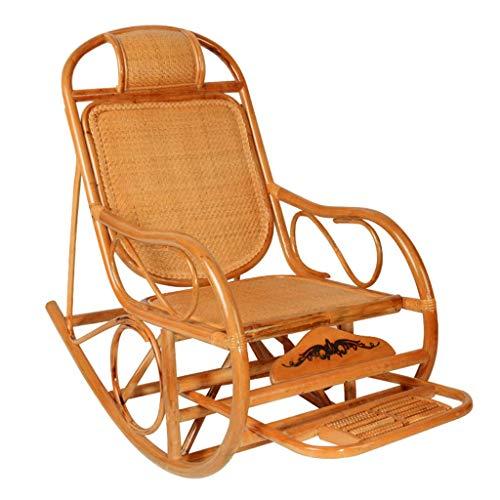 Chaise pour Adulte Chaise de Repos Chaise de Loisirs extérieure Balcon avec Chaise à Bascule en rotin Chaise de Relaxation