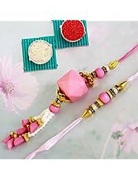 Tied Ribbons Rakhi Gifts For Bhabhi And Bhaiya With Rakshabandhan Special Card And Roli Chawal