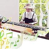 Roll Up Klavier Piano, Tragbare 88 Tasten Wiederaufladbare Faltbare MIDI Elektronische Orgel Hand Roll Piano Keyboard Piano Instrument Spielzeug Musical Educational Toy, Ideales Geschenk für Anfänger