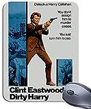 Dirty Harry Clint Eastwood Tapis de souris Tapis de souris. Vintage Film Movie Poster