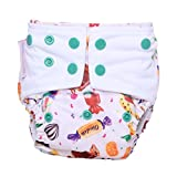 #10: Superbottoms Cloth Diapers - Superbottoms Plus Reusable AIO diaper with 2 Organic Cotton soakers and dry-feel [Day & Night Use] - Sugar Rush