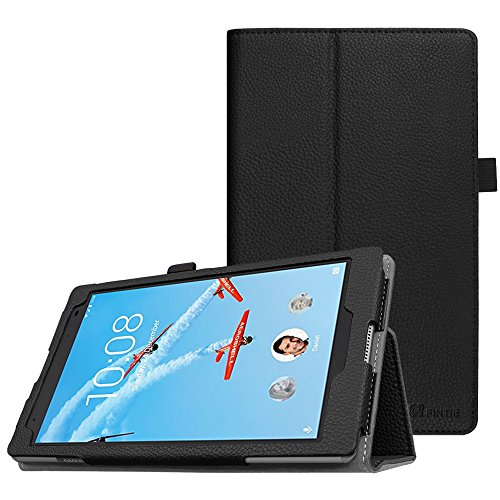 Fintie Lenovo Tab4 8 Plus Hülle - Folio Kunstleder Schutzhülle Tasche Etui Case mit Auto Schlaf/Wach Funktion für Lenovo Tab 4 8 Plus 20,32 cm 8 Zoll Tablet-PC (Not für Lenovo Tab4 8), Schwarz