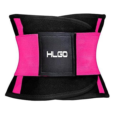 HLGO Damen Waist Cinchr Traning Sport Belt Fitness Slimming Girdle Gurte Rosa, XL (Power Body Shaper)