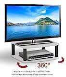 RICOO Plateau tournant meuble TV LED FS052W Meuble tele...