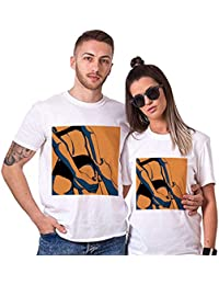 Sai Shree Couple Nightwear T Shirt | Concupiscence T Shirt for Loved Ones | Devotion | Free Size White