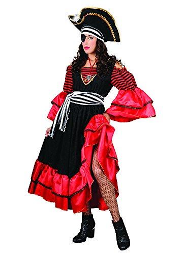 Stamco, Fluch der Karibik Elizabeth rot, Piraten Kostüm für Damen