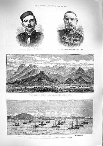 Old Original Antik Viktorianischer Druck 1888Opal Minen Queensland Williamson O