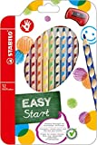 STABILO EASYcolours Ergonomic Colouring Pencil for Right Handed - Assorted Colours, Wallet of 12