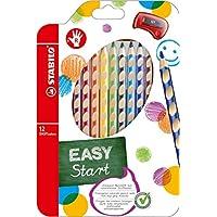 STABILO EASYcolors matite colorate Ergonomiche per Destrimani colori assortiti - Astuccio da 12
