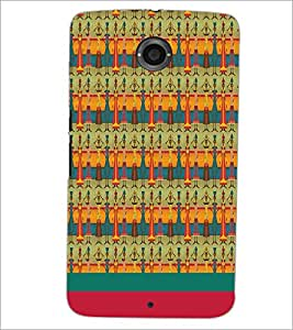 PrintDhaba Pattern D-1889 Back Case Cover for MOTOROLA GOOGLE NEXUS 6 (Multi-Coloured)
