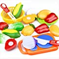 IHRKleid® 12PC Cutting Fruit Vegetable Pretend Play Children Kid Educational Toy