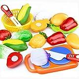 LandFox 12PC Taglio Frutta Verdura Far Finta Giocare Bambini Ragazzo Educativo Giocattolo