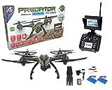 Drone radiocontrol con cámara Predator FPV 5.8ghz. Transmision de imagen en tiempo real. 2 baterias incluidas