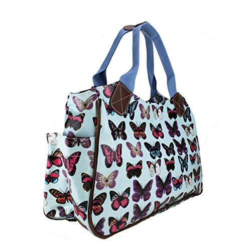 Miss Lulu, Damen Tote-tasche Farfalla Blu