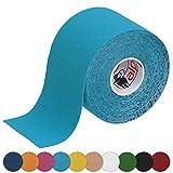 ALPIDEX Kinesiologie Tape 5 m x 5 cm in verschiedenen Farben, Farbe:hellblau, Menge:1 Rolle