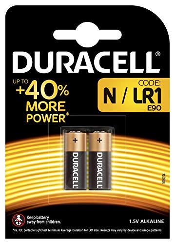 Duracell - Pilas especiales alcalinas N de 1,5V, paquete de 2...