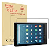 New Fire HD 8 2017 / 2016 / 2015 Displayschutz, Infiland Glass Folie Schutzfolie Glas Panzerfolie Displayschutzfolie für Fire HD 8-Hülle (8-Zoll-Tablet, 7. Generation - 2017) / das neue Fire HD 8 (6. Generation - 2016) / Fire HD 8 (5th Generation, 2015 release)(Tempered Glass)