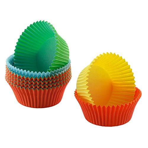 Kaiser Inspiration Mini Muffin Förmchen, 150 Stück, farbig, Ø 4,5 cm, fettdicht, ideal für süße und herzhafte Muffins Papier Muffin