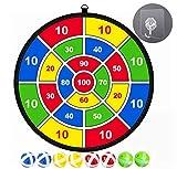 14.5 Pollici Tessuto di Sicurezza Dart Board Target Cabinet Set Ball Game Lancio Sport Hobby Bambini Giocattolo per Bambini (8 Palle)