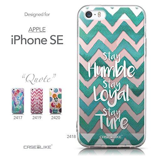 CASEiLIKE Zitat 2402 Ultra Slim Back Hart Plastik Stoßstange Hülle Cover for Apple iPhone SE +Folie Displayschutzfolie +Eingabestift Touchstift (Zufällige Farbe) 2418