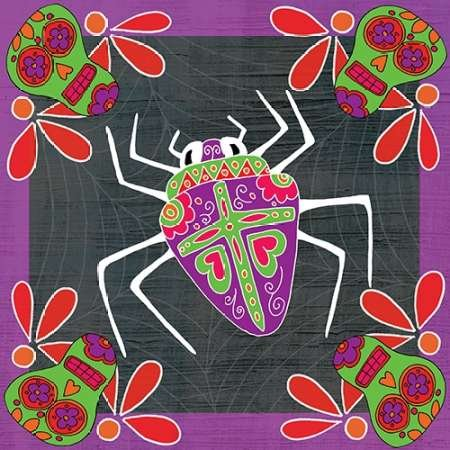 Feeling at home, Poster, Kunstdruck fuer Rahmen - Bild, Tag der Toten Spider III cm 91x91