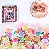 LISOPO 40000pcs Perles d'eau colorées Balles de l'eau Gel Perles d'eau en Pleine