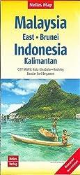Nelles Map Landkarte Malaysia: East - Brunei - Indonesia: Kalimantan: 1:1,5 Mio   reiß- und wasserfest; waterproof and tear-resistant; indéchirable et ... & impermeable (Nelles Map / Strassenkarte)