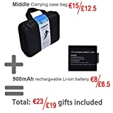 Campark® ACT74 Action Camera 4K Sport Cam Waterproof Camera Ultra HD DV Camcorder Wifi 2.0 Inch 170° Wide Angle (£19 Gift Included - Portable Case + 2 Batteries)