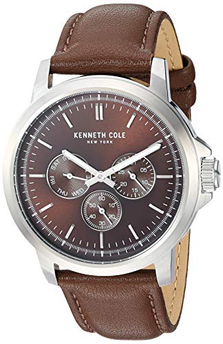 Kenneth Cole New York Men's Analog Quartz Watch with Leather Strap KC50689004