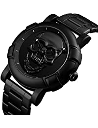 24cc246d42c0 Amazon.es  reloj calavera - Hombre  Relojes