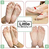 My Little Beauty – Maschera peeling per piedi – Esfoliante, rimuove i calli, ideale per dei piedi morbidi (2 paia per confezione) immagine