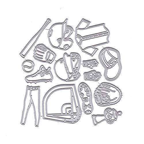 DIY Handwerk Schneid-Form, Baseball-Uniform Metall Stanzschablone DIY Scrapbooking Album Stempel Papier Karte Prägung Basteln Dekoration
