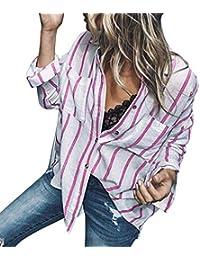 Kobay Camicie in Flanella a Quadri Scozzesi da Donna Camicetta arrotolata  con Maniche Corte ed23ee6bb64e