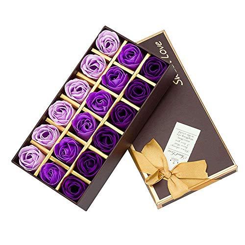Cisixin 18 Piezas Rose Jabones Perfumados Caja Regalo