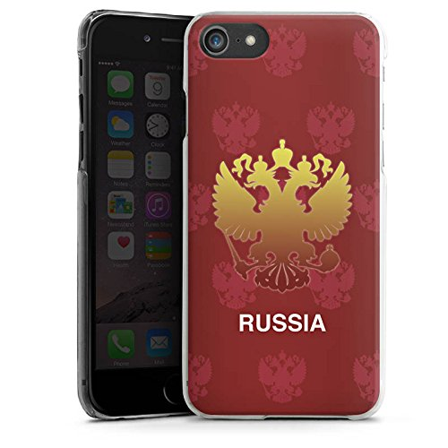 Apple iPhone X Silikon Hülle Case Schutzhülle Russland EM Trikot Fußball Europameisterschaft Hard Case transparent