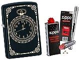 Zippo All Over Clock Mécanisme avec Accessoires Zippo et Briquet à Tige chromée L.B