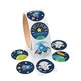 Weltraum Space Raketen Aufkleber Sticker 100 Stück Mitgebsel Mottoparty mit Palandi® Sticker