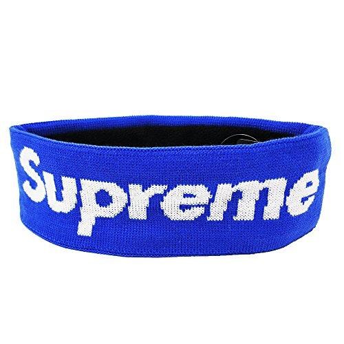 Supreme Sterne (Supreme Haarband neuesten Fashion Stricken Schweißband Feuchtigkeit saugfähig Bio Baumwolle Box Logo, blau, 9.6*2.9inch)
