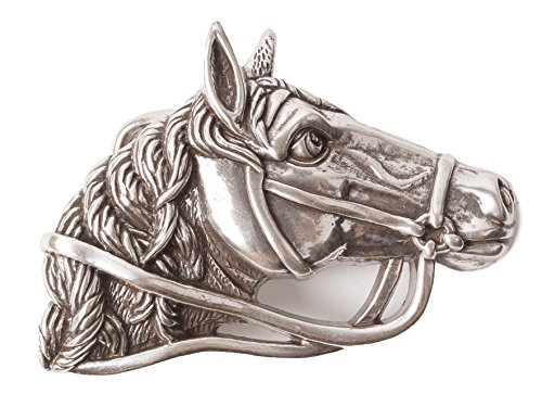 Preisvergleich Produktbild smurfbay Gürtel Schnalle ::: Pferdekopf im Profil ::: als Hingucker bei Jeans und Hosen