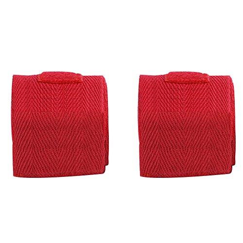Dioche Boxe bendaggi da Uomo, 2.5m 3Colori 2PCS/Set Cotone Bendaggio Fasce per Mani per Boxe, Kickboxing, Blue