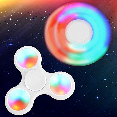 Preisvergleich Produktbild zappeln Hand Spinner mit LED Licht Marke neue Tri Spinner Prime Spielzeug mit 3farbigen Shining Premium Angst Spielzeug hilft FORCUS für Kinder und Erwachsene Stress Reducer