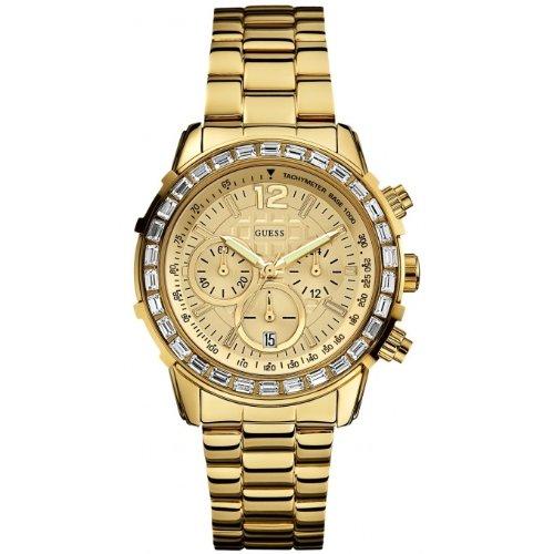 guess w0016l2quartz watch yellow gold 40mm