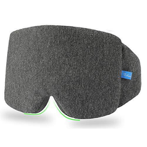 Schlafmaske Damen und Herren, VOLUEX Premium Schlafbrille Nachtmaske,100{f0b9fd07fccae1037bfc25c5089ddc457aa54a13a4ed87847a9dd0ff02276cb5} Lichtschutz, Super Weich und Bequem, Augenmaske für Reisen, Schichtarbeit und Nickerchen, Inklusive Ohrstöpseln